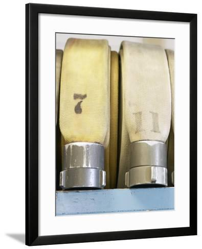 Numbered Fire Hoses--Framed Art Print