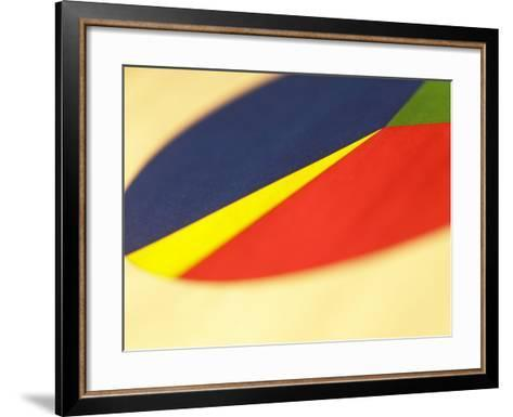 Selective Focus of Colorful Company Pie Chart--Framed Art Print