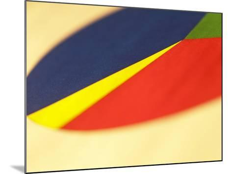Selective Focus of Colorful Company Pie Chart--Mounted Photographic Print