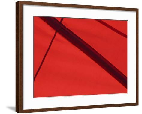 Close-Up of the Seams on a Spinnaker Sail of a Sailing Ship--Framed Art Print