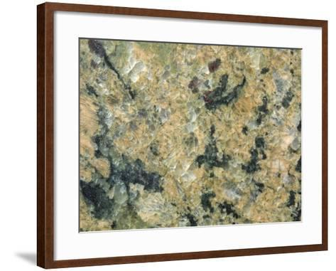 Close-Up of Mottled and Smooth Marble--Framed Art Print