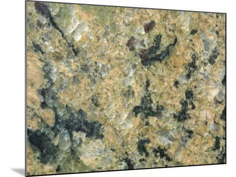 Close-Up of Mottled and Smooth Marble--Mounted Photographic Print