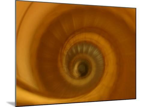 View of Spiral Staircase Indoors in Paris, France--Mounted Photographic Print