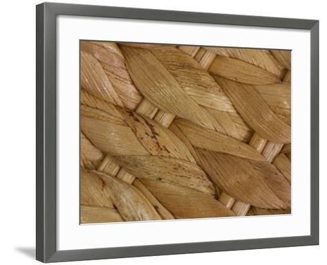 Close-Up of Intricate Woven Texture--Framed Art Print