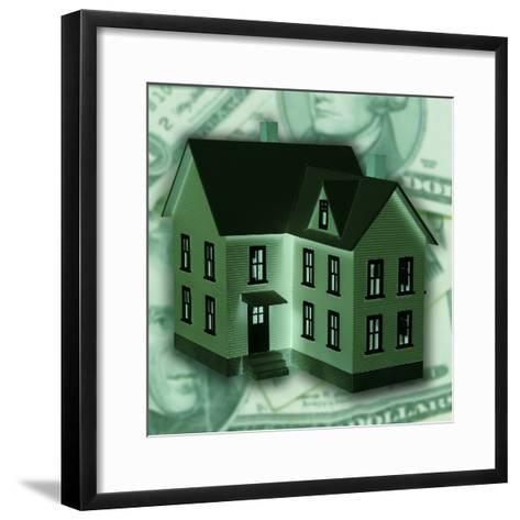 Money Behind House--Framed Art Print
