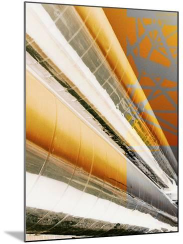 Painted Piping of Industrial Plant--Mounted Photographic Print