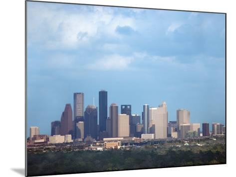Buildings and High Rises in Skyline of Houston, Texas at Night--Mounted Photographic Print