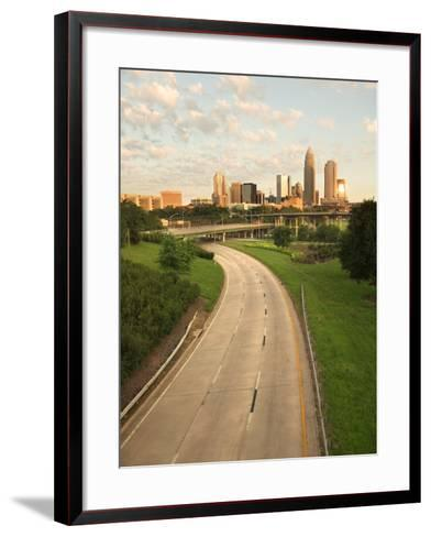 Skyscrapers in Beautiful and Grandiose City of Charlotte, North Carolina--Framed Art Print