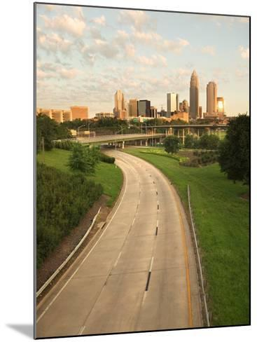 Skyscrapers in Beautiful and Grandiose City of Charlotte, North Carolina--Mounted Photographic Print