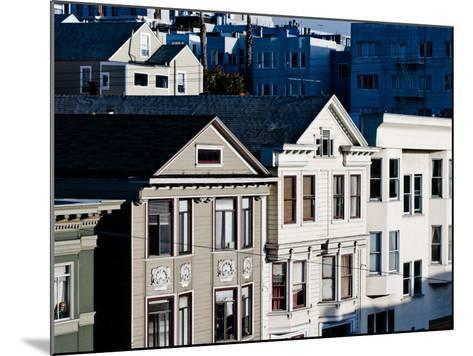 Historic Victorian Houses in San Francisco, California--Mounted Photographic Print