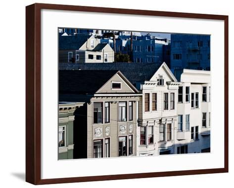 Historic Victorian Houses in San Francisco, California--Framed Art Print