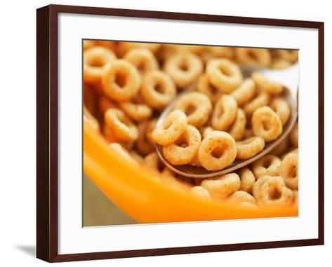 Spoon in Bowl of Breakfast Cereal--Framed Art Print