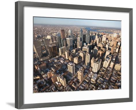 Aerial View of Buildings in Philadelphia, Pennsylvania--Framed Art Print