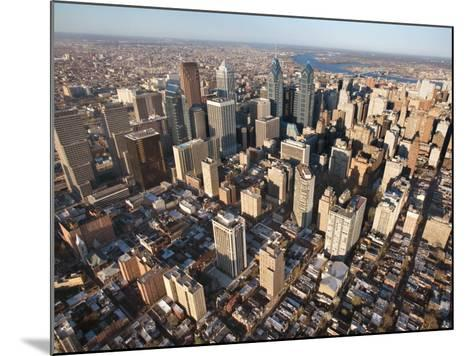 Aerial View of Buildings in Philadelphia, Pennsylvania--Mounted Photographic Print