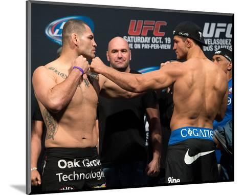 UFC 166: May 25, 2013 - Cain Velasquez vs Junior Dos Santos-Jeff Bottari-Mounted Photo