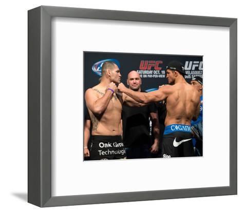 UFC 166: May 25, 2013 - Cain Velasquez vs Junior Dos Santos-Jeff Bottari-Framed Art Print