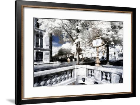 Metro - In the Style of Oil Painting-Philippe Hugonnard-Framed Art Print