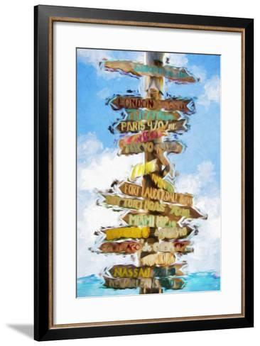 Destinations - In the Style of Oil Painting-Philippe Hugonnard-Framed Art Print