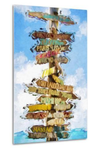 Destinations - In the Style of Oil Painting-Philippe Hugonnard-Metal Print