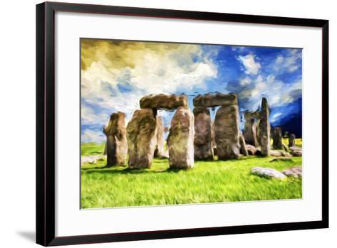 Stonehenge - In the Style of Oil Painting-Philippe Hugonnard-Framed Art Print