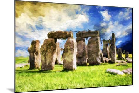 Stonehenge - In the Style of Oil Painting-Philippe Hugonnard-Mounted Giclee Print