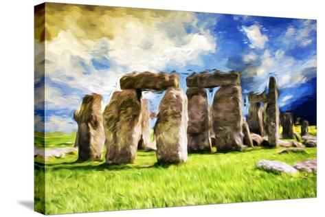 Stonehenge - In the Style of Oil Painting-Philippe Hugonnard-Stretched Canvas Print