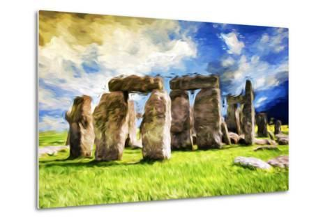 Stonehenge - In the Style of Oil Painting-Philippe Hugonnard-Metal Print