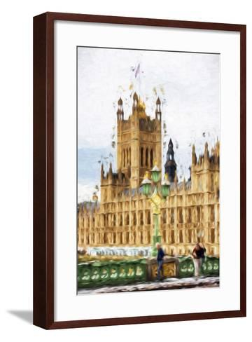 Westminster - In the Style of Oil Painting-Philippe Hugonnard-Framed Art Print