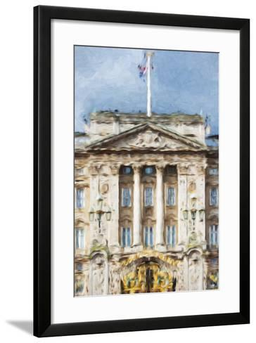 Buckingham Palace - In the Style of Oil Painting-Philippe Hugonnard-Framed Art Print