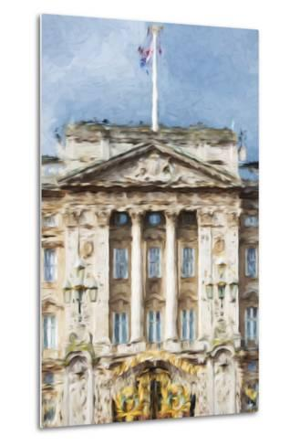 Buckingham Palace - In the Style of Oil Painting-Philippe Hugonnard-Metal Print