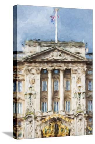 Buckingham Palace - In the Style of Oil Painting-Philippe Hugonnard-Stretched Canvas Print