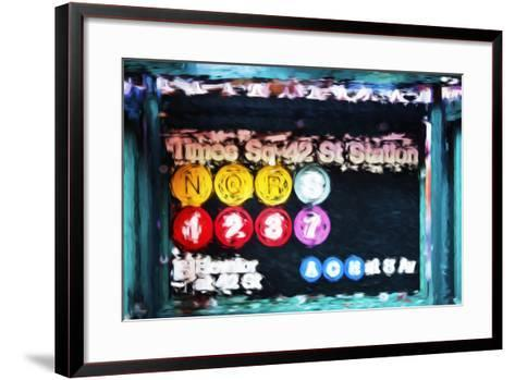 Times Sq 42st Station - In the Style of Oil Painting-Philippe Hugonnard-Framed Art Print