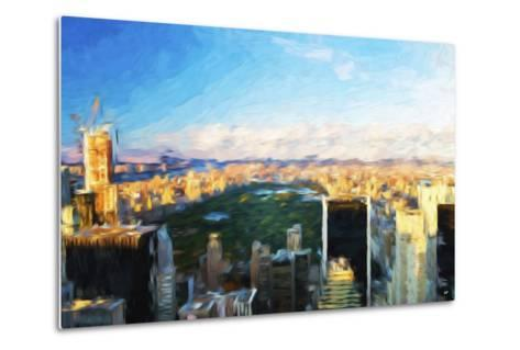 Central Park Skyline - In the Style of Oil Painting-Philippe Hugonnard-Metal Print