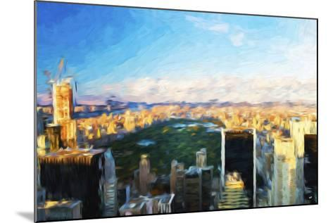 Central Park Skyline - In the Style of Oil Painting-Philippe Hugonnard-Mounted Giclee Print