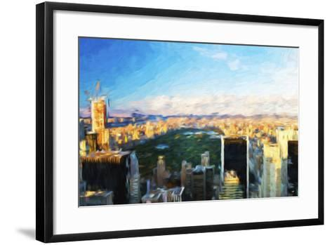 Central Park Skyline - In the Style of Oil Painting-Philippe Hugonnard-Framed Art Print