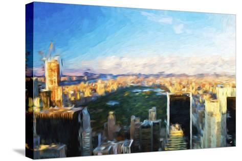Central Park Skyline - In the Style of Oil Painting-Philippe Hugonnard-Stretched Canvas Print