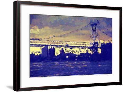 Williamsburg Bridge II - In the Style of Oil Painting-Philippe Hugonnard-Framed Art Print
