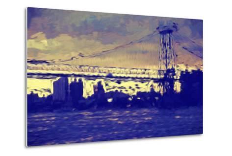 Williamsburg Bridge II - In the Style of Oil Painting-Philippe Hugonnard-Metal Print