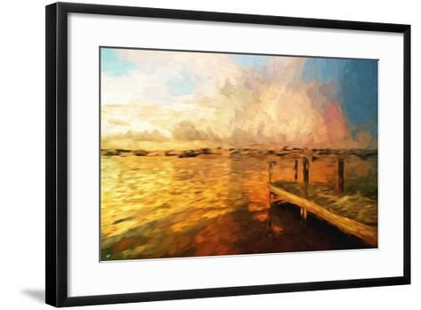 Mysterious Sunset III - In the Style of Oil Painting-Philippe Hugonnard-Framed Art Print
