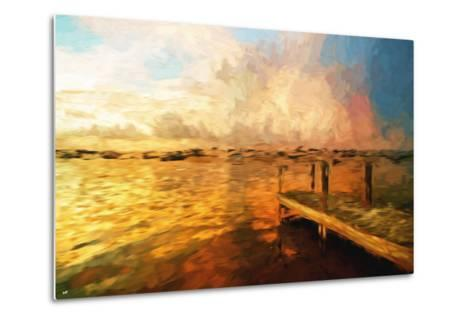 Mysterious Sunset III - In the Style of Oil Painting-Philippe Hugonnard-Metal Print