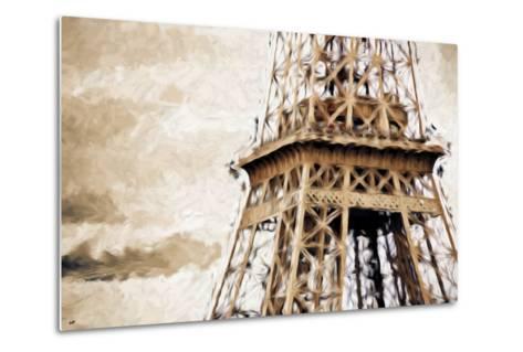 Eiffel Tower in Winter II - In the Style of Oil Painting-Philippe Hugonnard-Metal Print