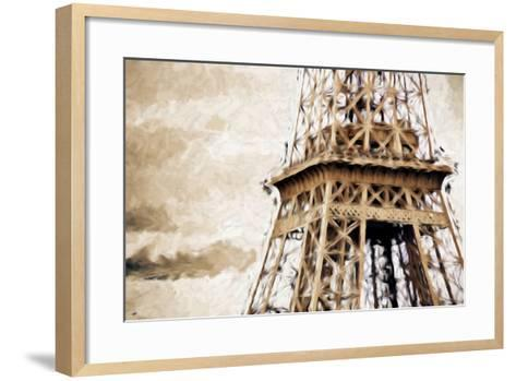 Eiffel Tower in Winter II - In the Style of Oil Painting-Philippe Hugonnard-Framed Art Print