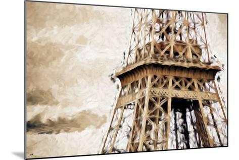 Eiffel Tower in Winter II - In the Style of Oil Painting-Philippe Hugonnard-Mounted Giclee Print