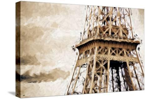 Eiffel Tower in Winter II - In the Style of Oil Painting-Philippe Hugonnard-Stretched Canvas Print