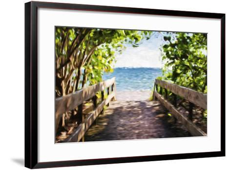 Beach Path - In the Style of Oil Painting-Philippe Hugonnard-Framed Art Print
