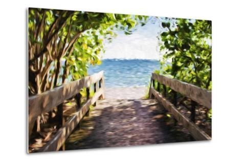 Beach Path - In the Style of Oil Painting-Philippe Hugonnard-Metal Print