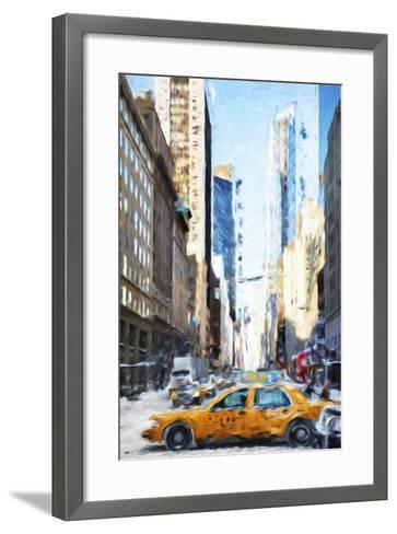NYC Taxi - In the Style of Oil Painting-Philippe Hugonnard-Framed Art Print