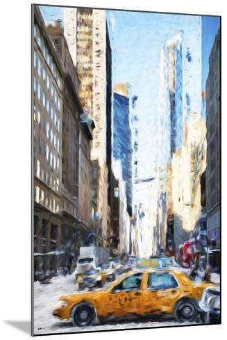 NYC Taxi - In the Style of Oil Painting-Philippe Hugonnard-Mounted Giclee Print