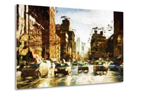 Four Taxis II - In the Style of Oil Painting-Philippe Hugonnard-Metal Print