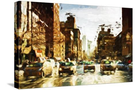 Four Taxis II - In the Style of Oil Painting-Philippe Hugonnard-Stretched Canvas Print